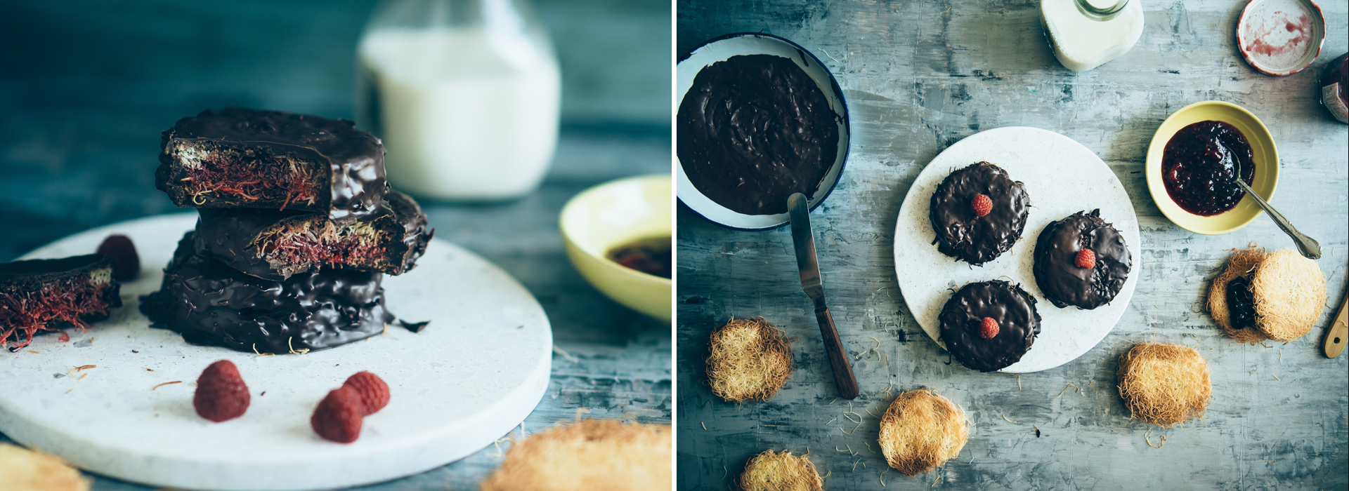 Chocolate Kataifi jam sandwiches | Antoniou Fillo Pastry