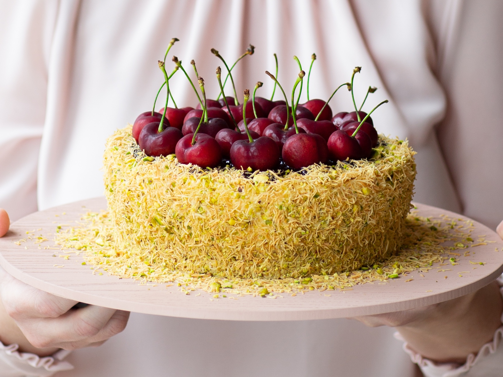 Kataifi Cherry Cheesecake - A winner in our eyes, this cheesecake is an absolute delight. While cherries are out of season, get creative with any other fruit that's in abundance.