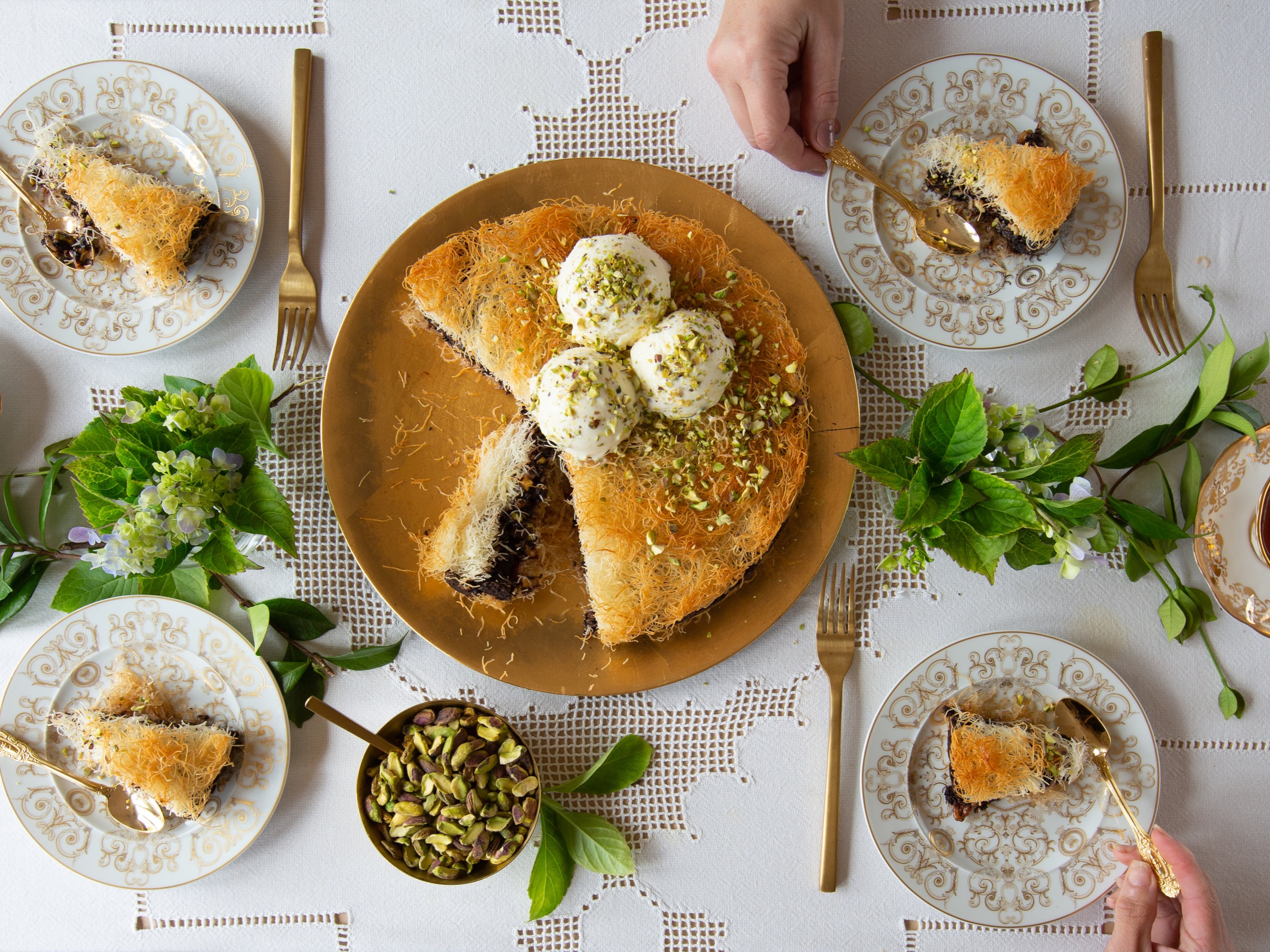 Amaretti Kataifi Cake