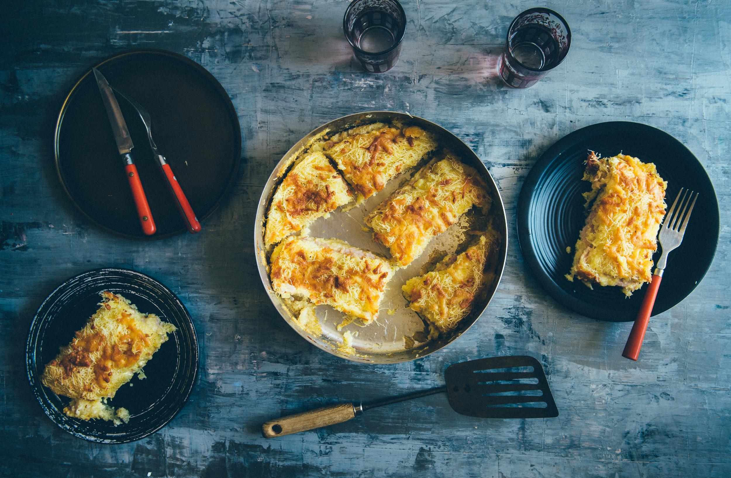 Ham & Cheese Kataifi Pie