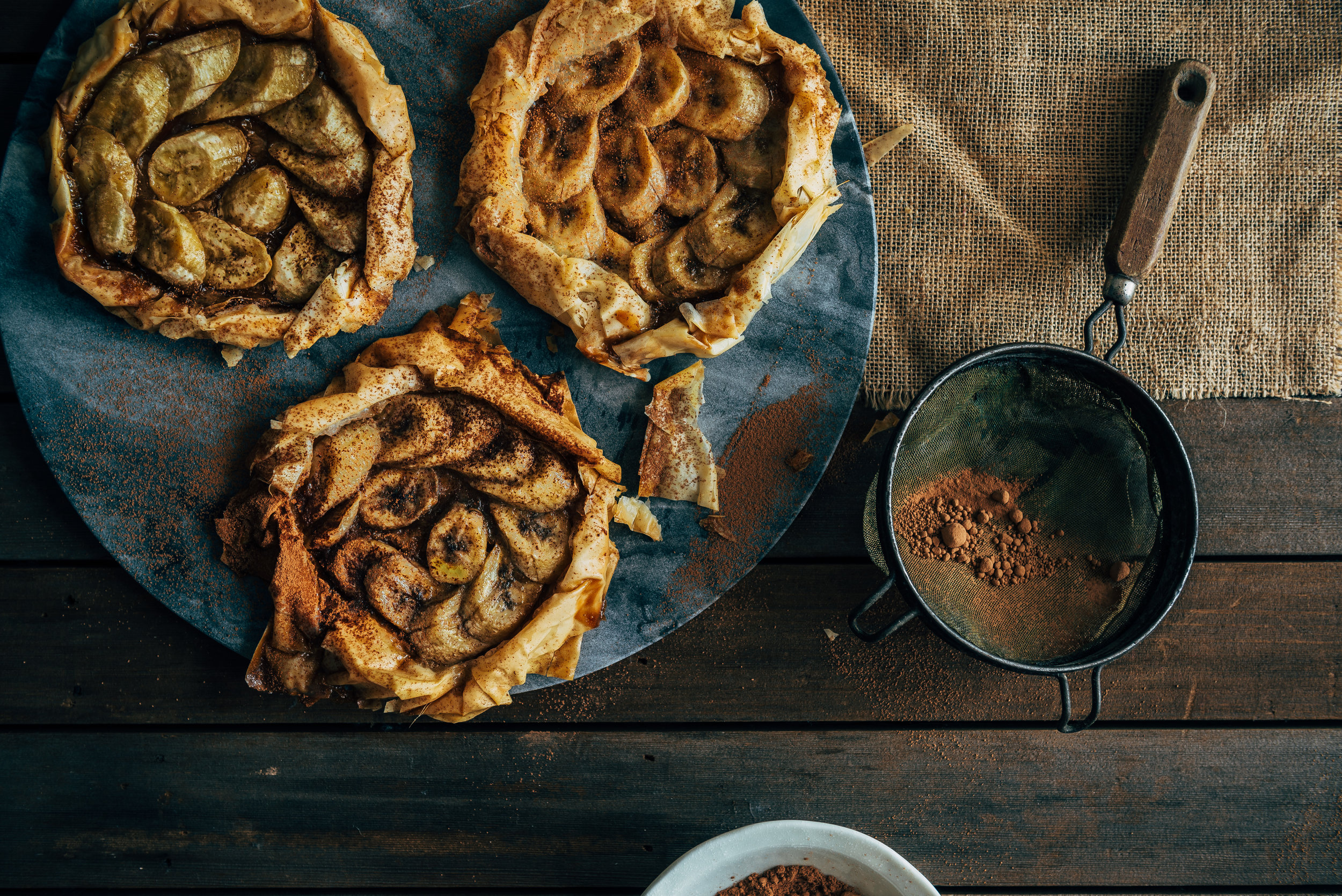 Banoffee Fillo Galettes