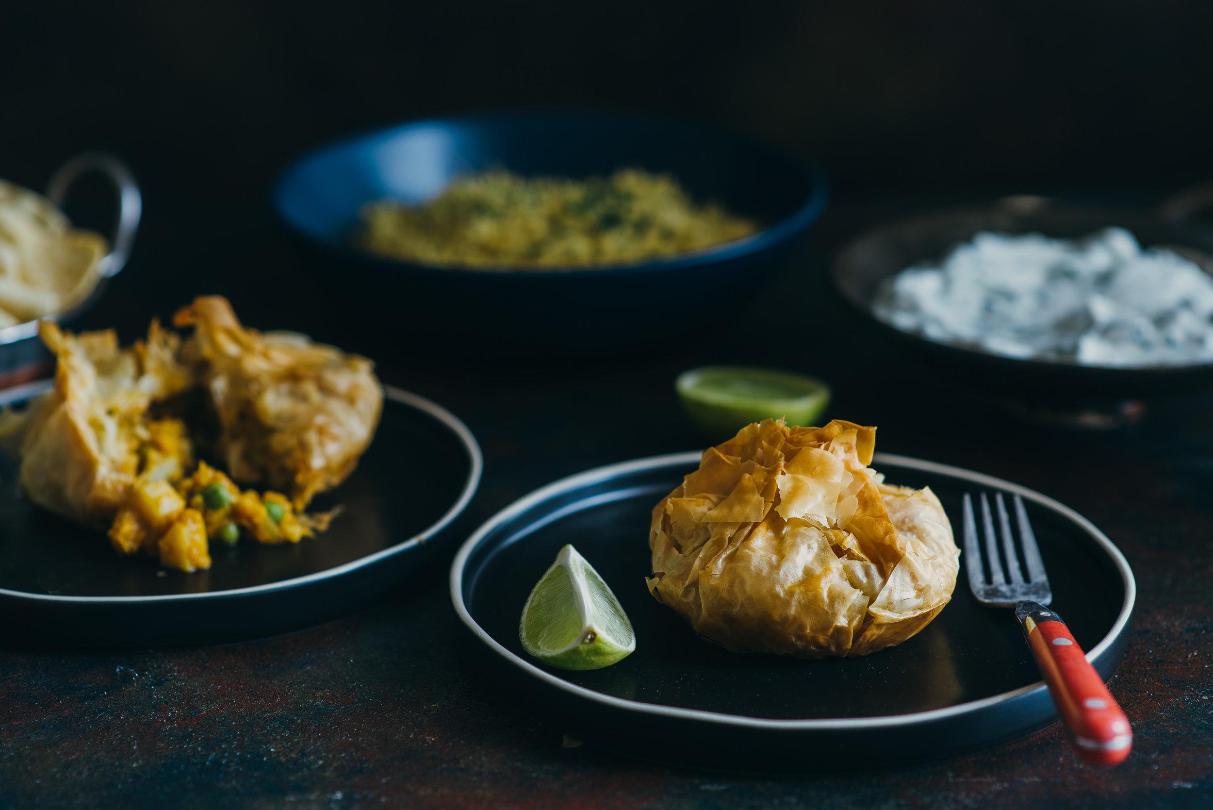 Vegetarian Curry Fillo Pockets