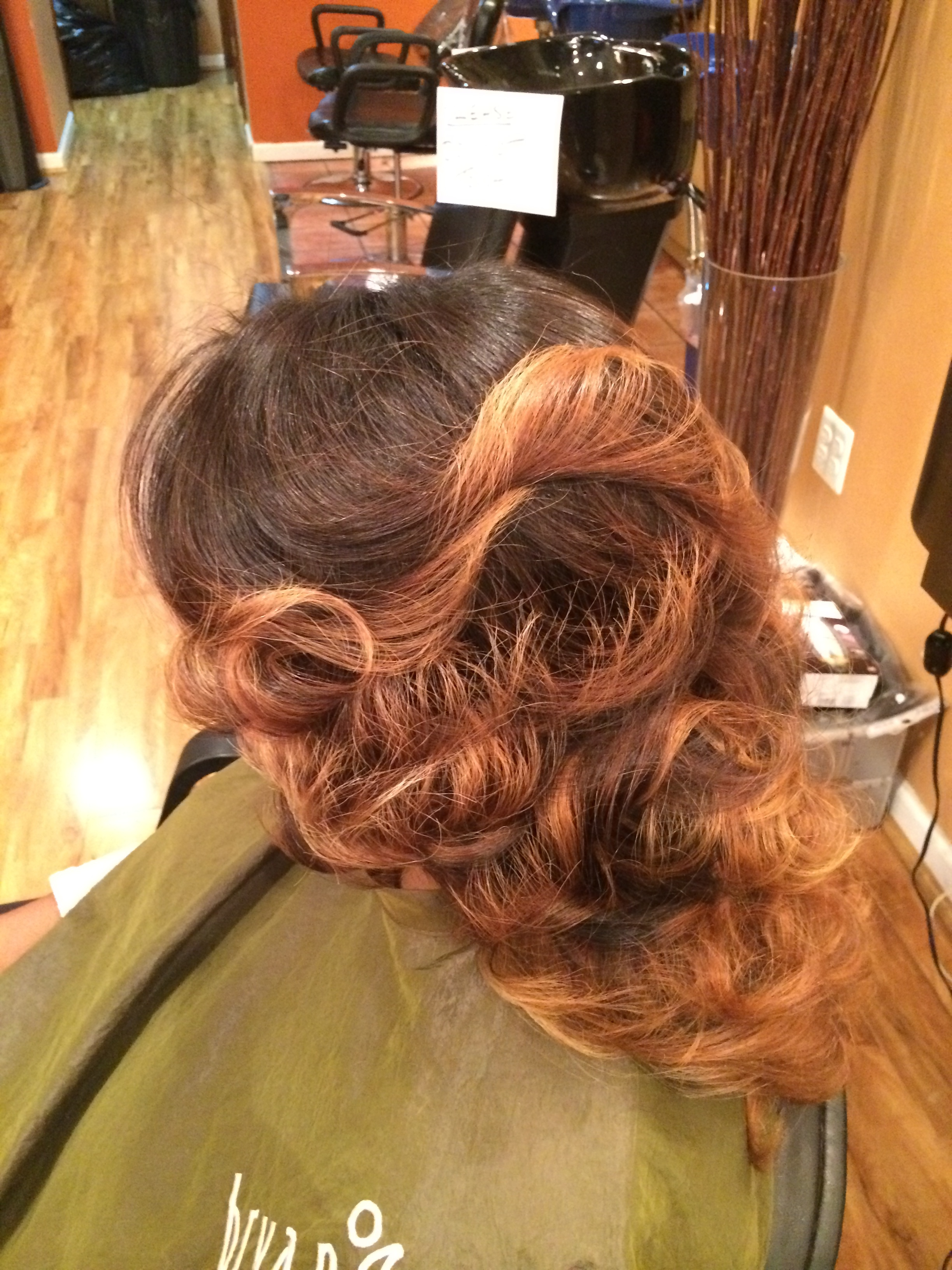 Partial sew in extensions. Balayage highlights on natural hair and extensions