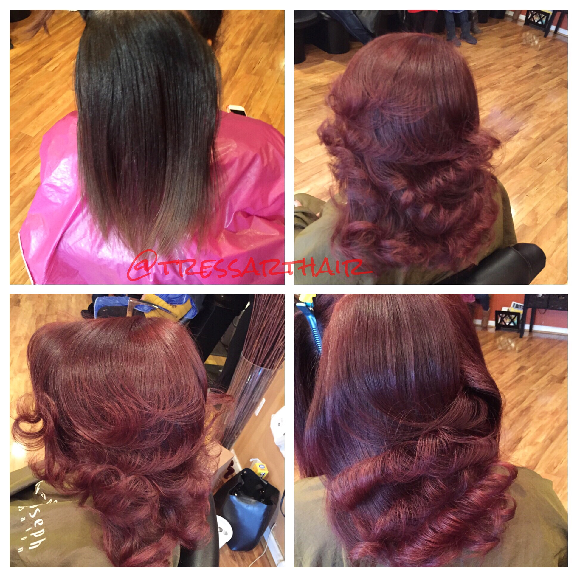 Natural hair. Base Change. Silk press. Ceramic curled