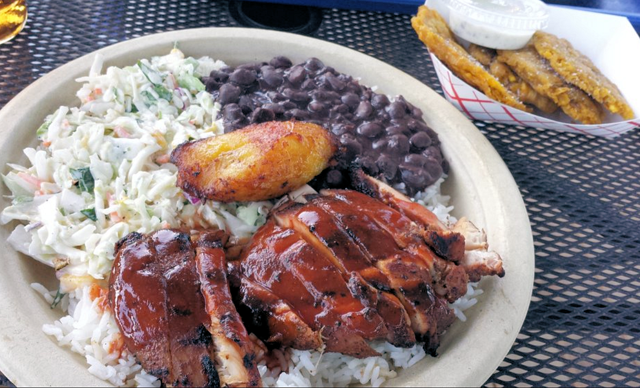 """Jerk Chicken or ""West Indies"" plate!"""