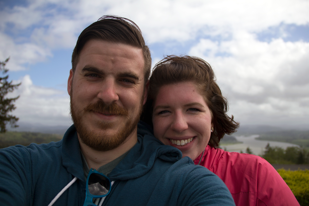 Ryan and I at the Astoria Column