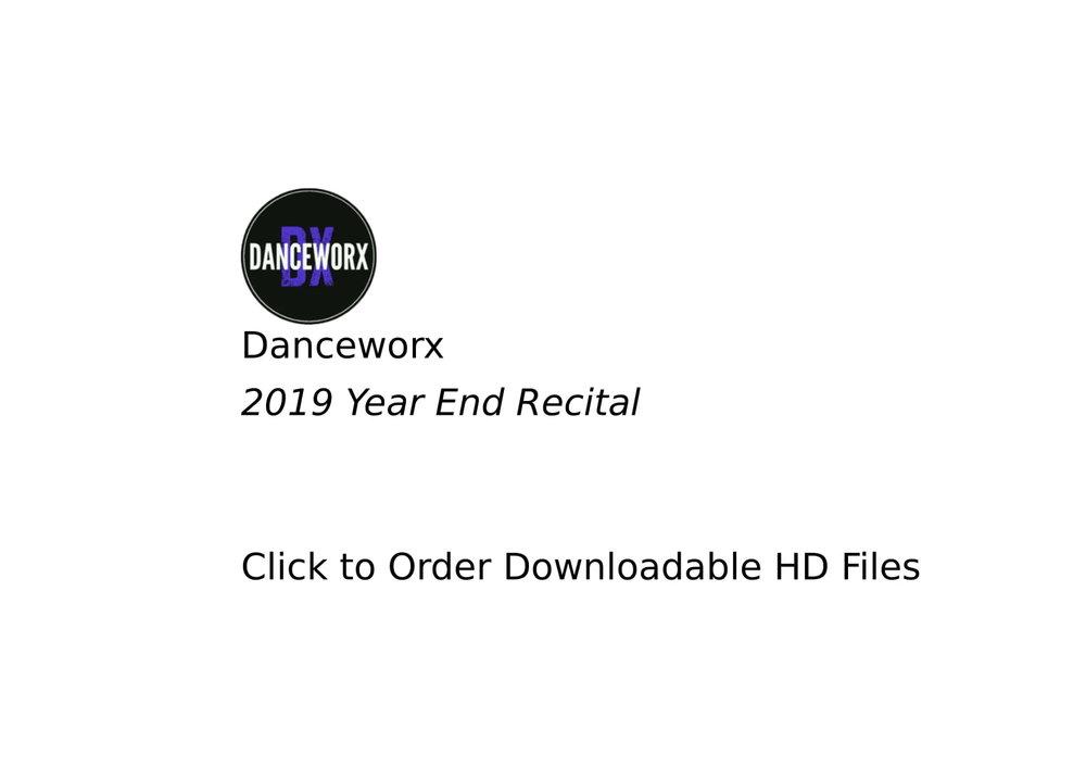 Danceworx - 2019 Downloadable File Orders
