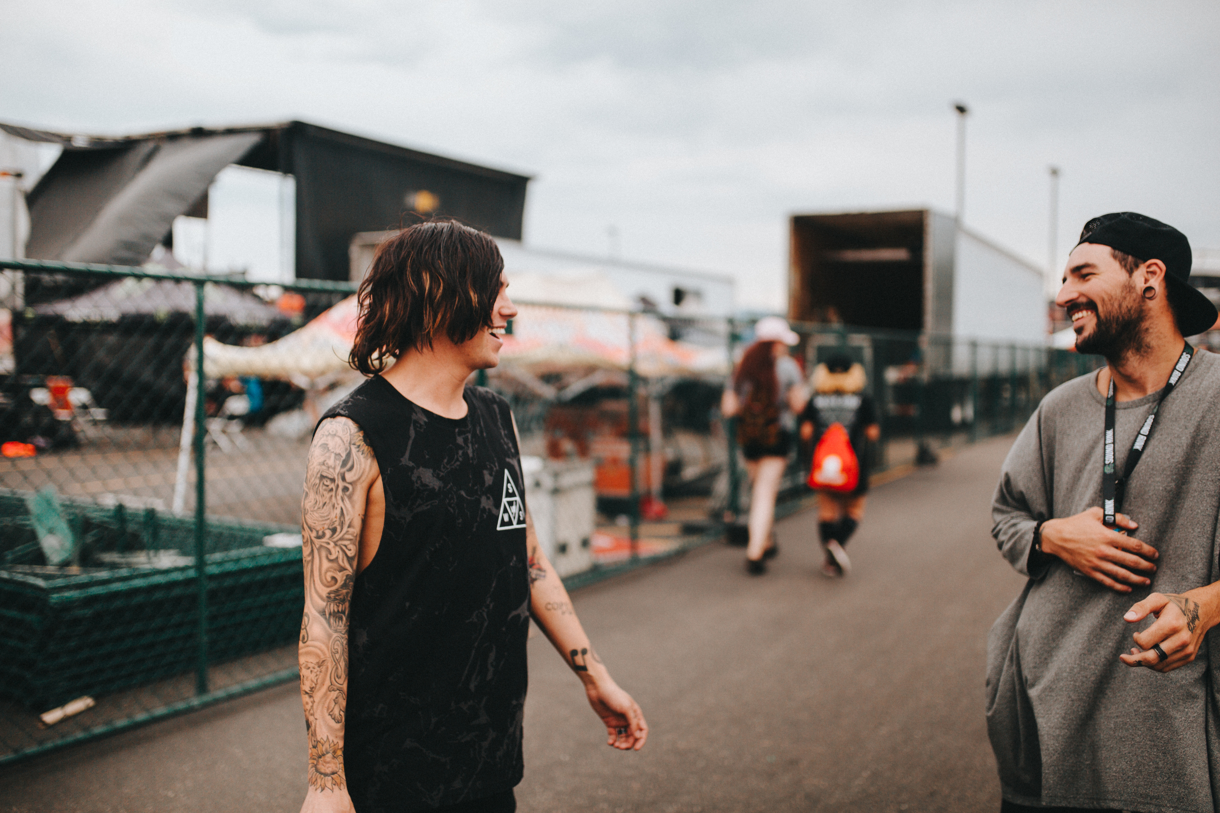 Denver, CO.  Michael of  Issues  and Kellin of  SWS  sharing a laugh as we made our way to the stage.