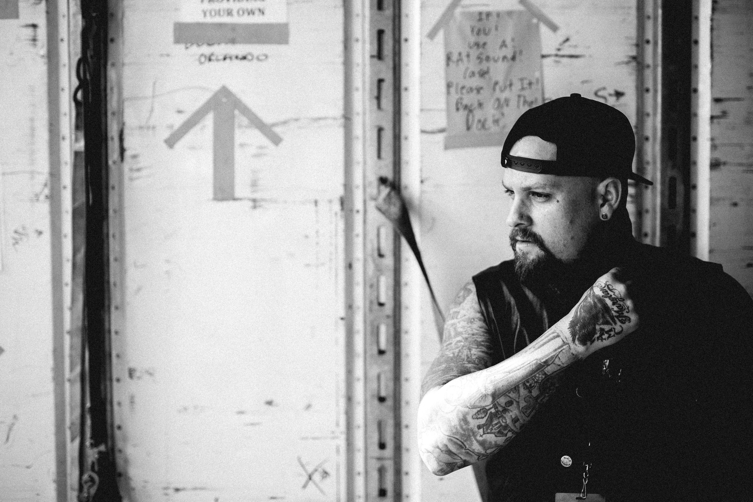Noblesville, IN . A sneaky portrait of  Benji Madden of Good Charlotte.  I love being the eyes behind the scenes.