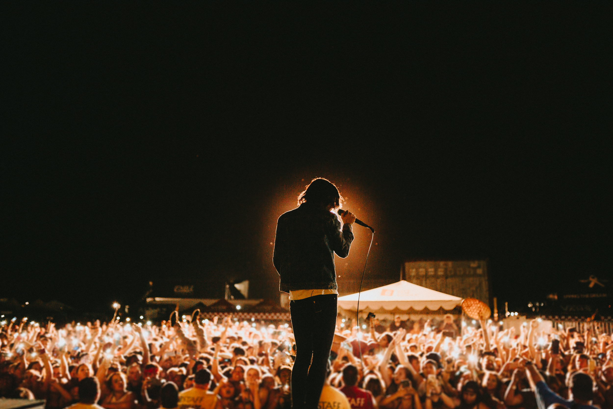 Phoenix, AZ.  People say this is their favorite shot I took all tour. I agree.  I love when Kellin asks the crowd to hold their flashlights up.  We get some really cool stuff.