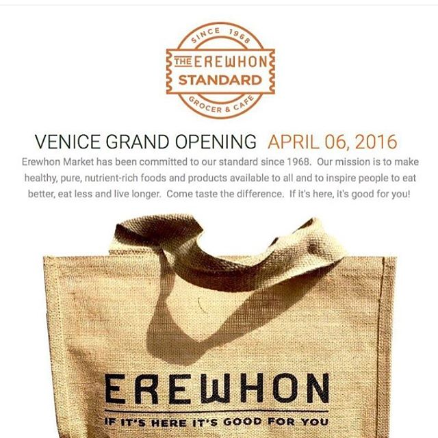 #regram from @erewhonmarket  Are you guys ready to visit this new and beautiful market in the sunny Venice, CA? Drop on by and grab our new Matcha cold brews on April 6th!