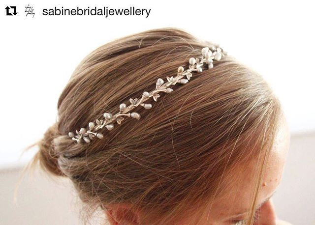 A sterling silver tiara set with Keshi pearls. @sabinebridaljewellery  #svgjewellery #handmade