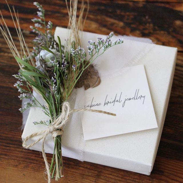 A box for every handmade piece. #svgjewellery #bridaljewellery