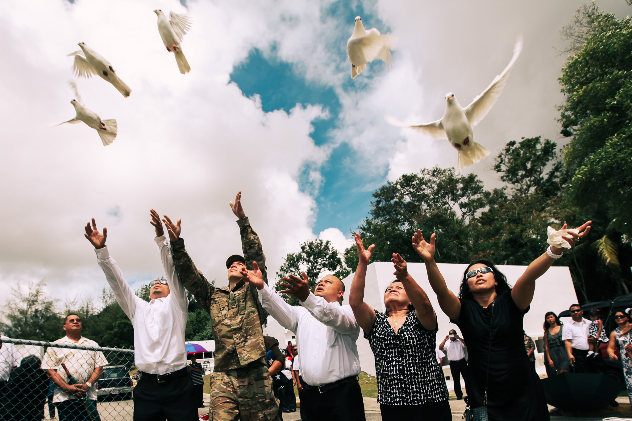 funeral photography dove release