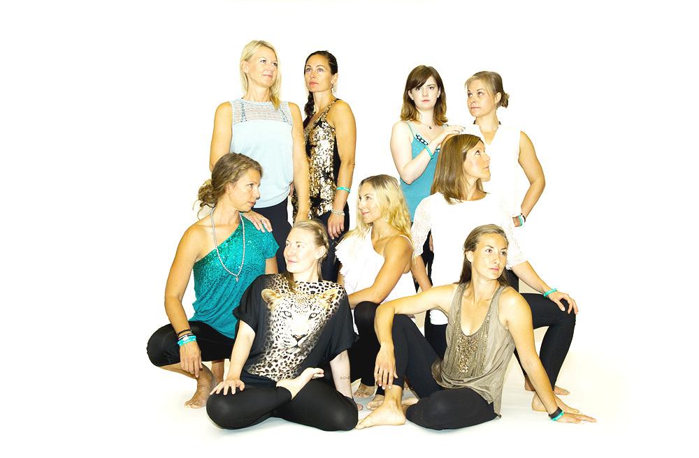 Meet our Global Yoga Teachers - Kajsa, Frøydis, Lisa MJ, Sandra, Anna, Johanna, Camilla, Sofia, Lisa H, Therése, Eva and admin Andreas!