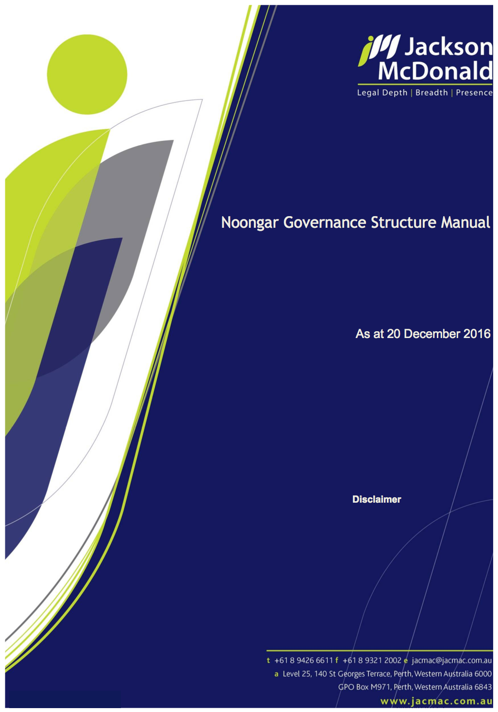 Noongar Governance Structure Manual