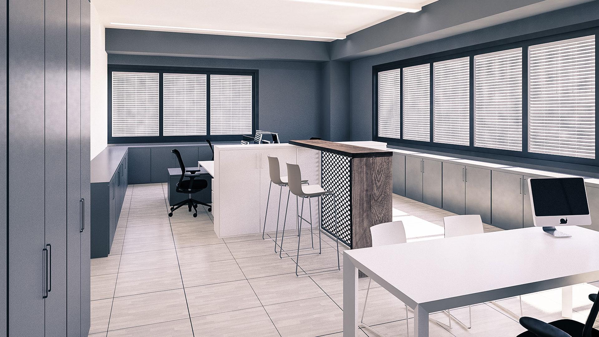 Rendering open space office
