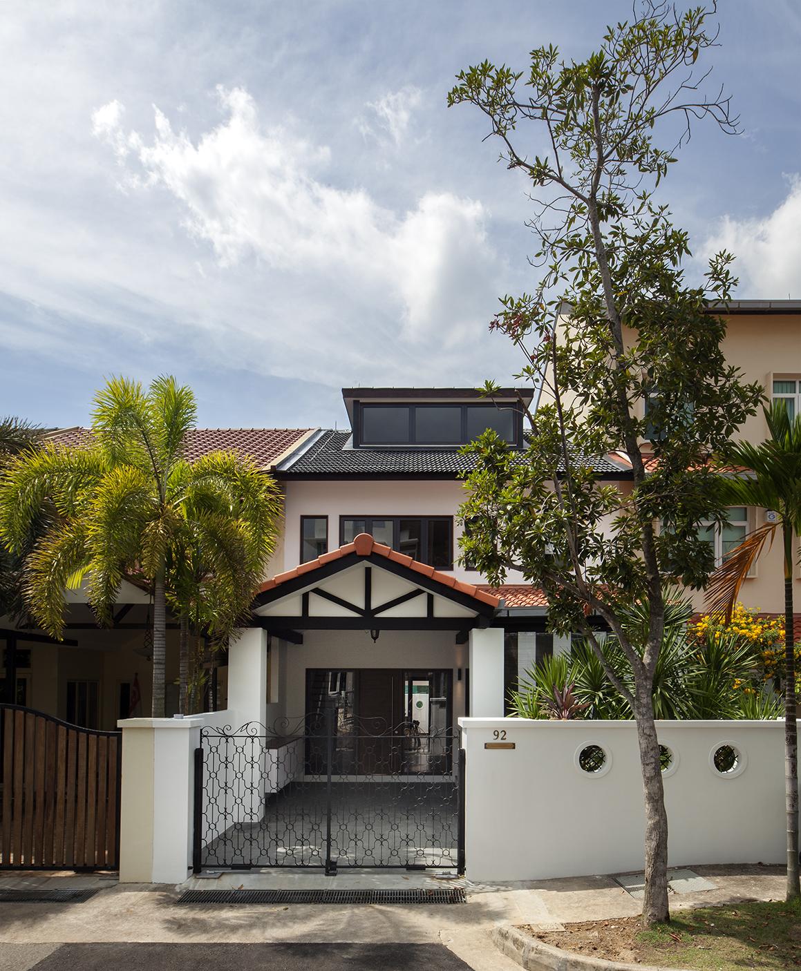Main facade of Terrace House at Joo Chiat