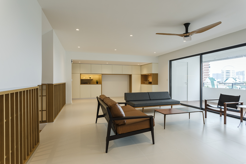 Large window at living room at Pandan Valley Condominium