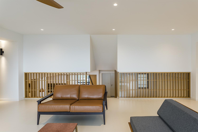 Timber Louver screen in living room at Pandan Valley Condominium