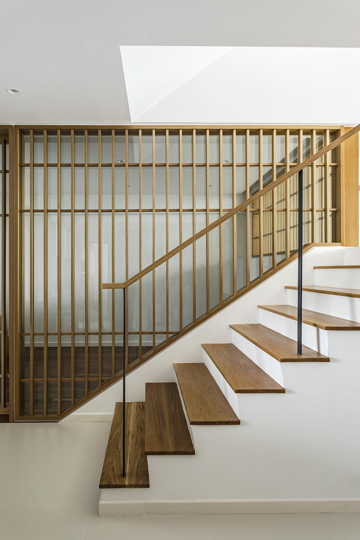 Staircase and timber louver at Pandan Valley Condominium