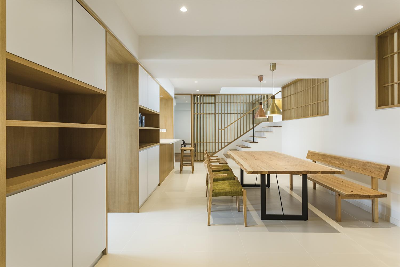 Built in cabinet in dining room at Pandan Valley Condominium
