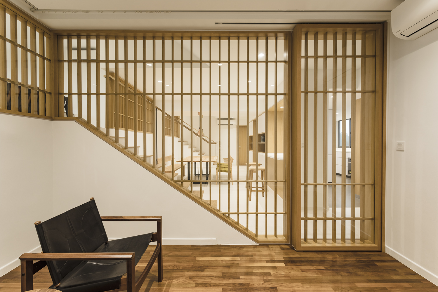 Entertainment room with timber louver at Pandan Valley Condominium