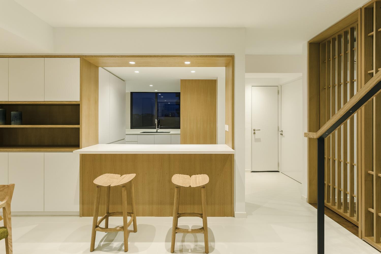 Kitchen counter at Pandan Valley Condominium