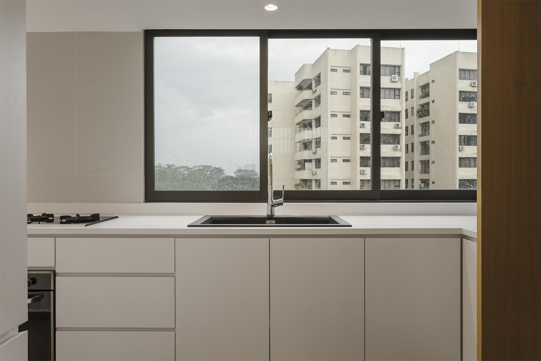Kitchen with large window at Pandan Valley Condominium
