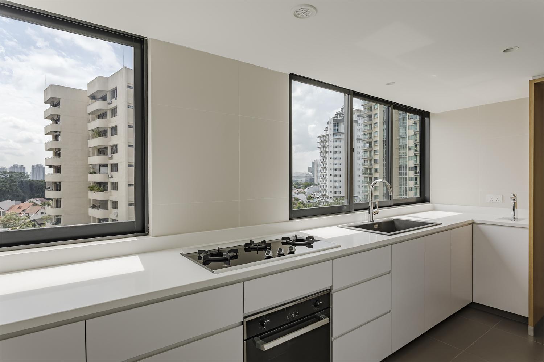 Bright kitchen at Pandan Valley Condominium