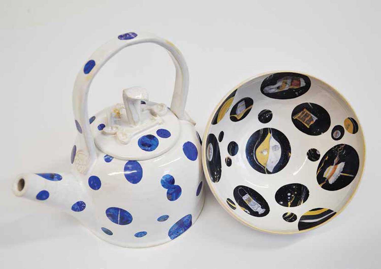Gormenghast teapot and bowl