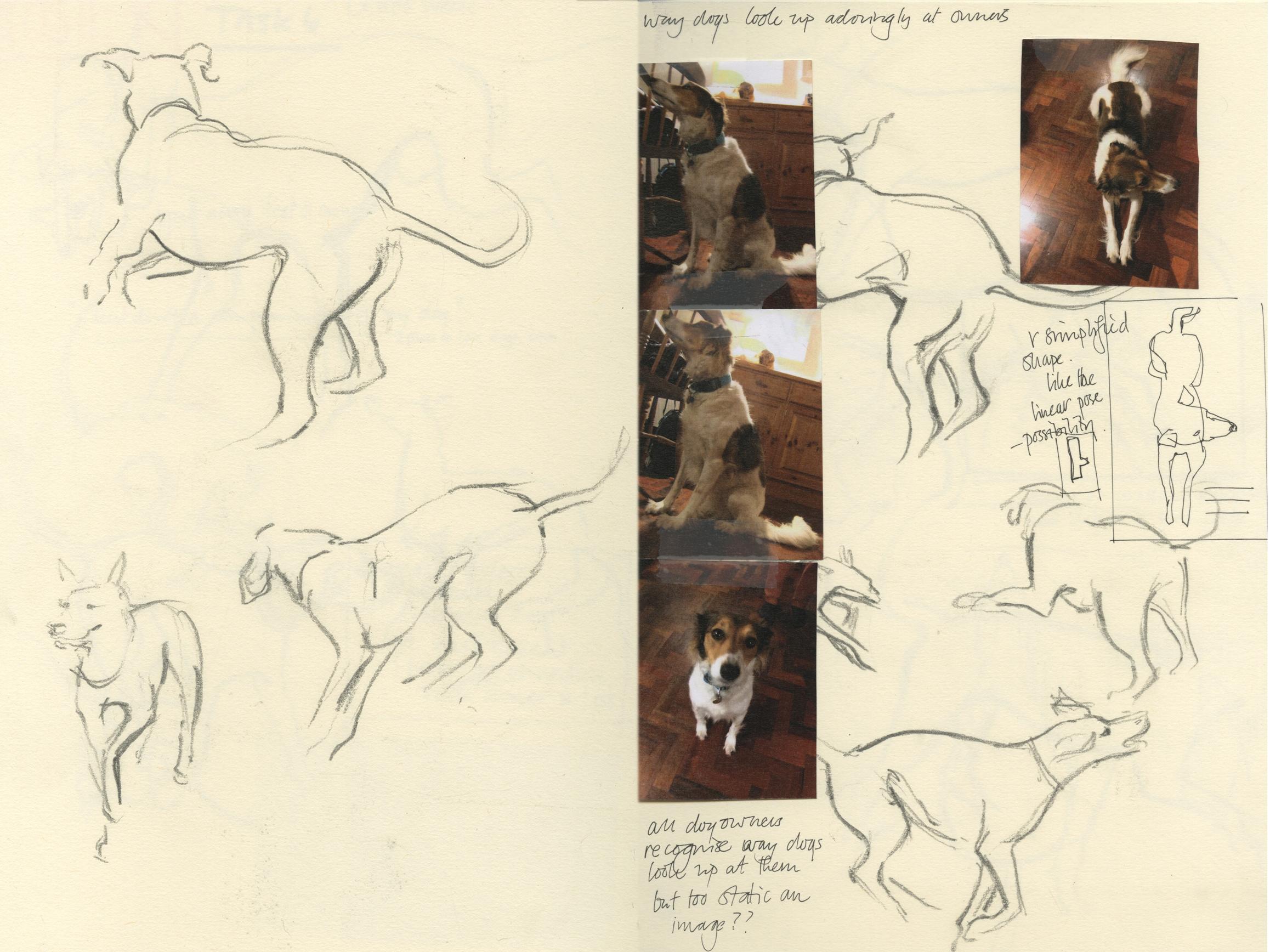 Sketchbook work for Crufts poster