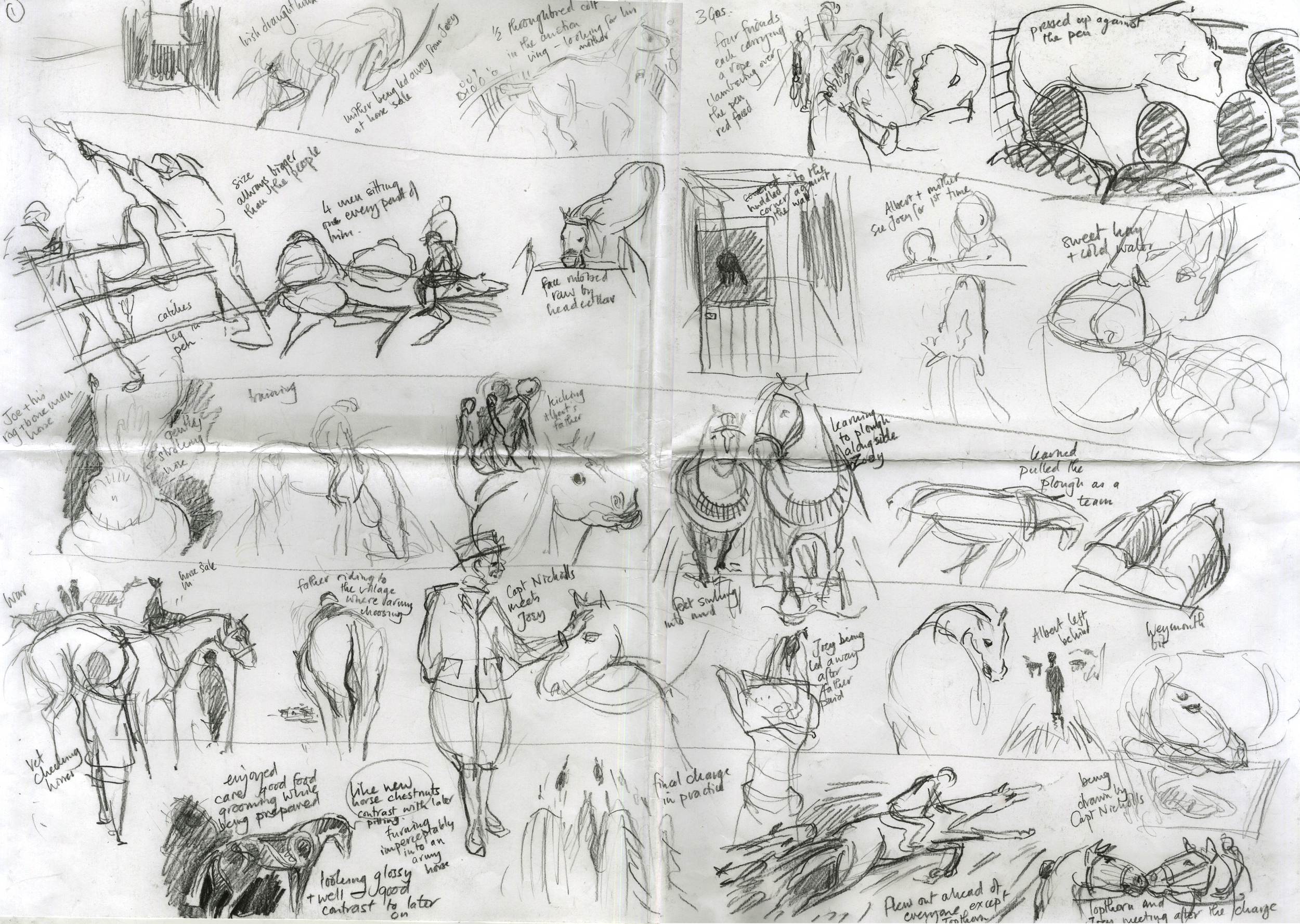 Sketchbook work for The Folio Competition