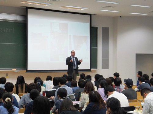 Comparing the Japanese and British economies from 1970 to date at a University in Tokyo.