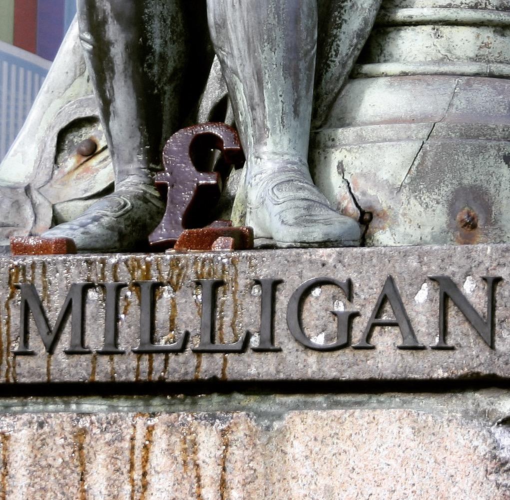 Milligan Must Fall 2016 (cast sugar, 22x10x2cm)