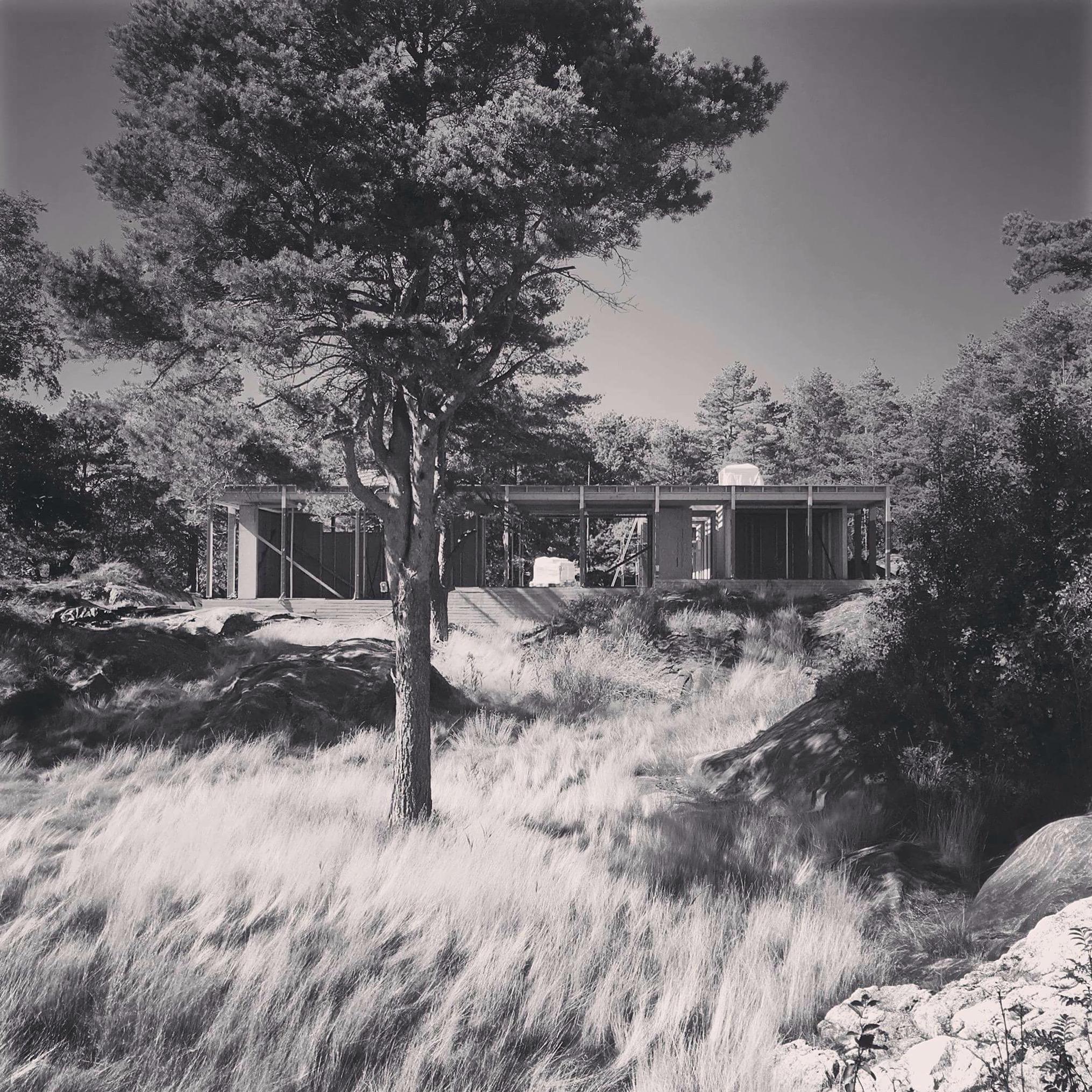 08/2016 - Befaring hytte Risør - vi gleder oss nesten mer enn tiltakshaver til ferdigstillelse.
