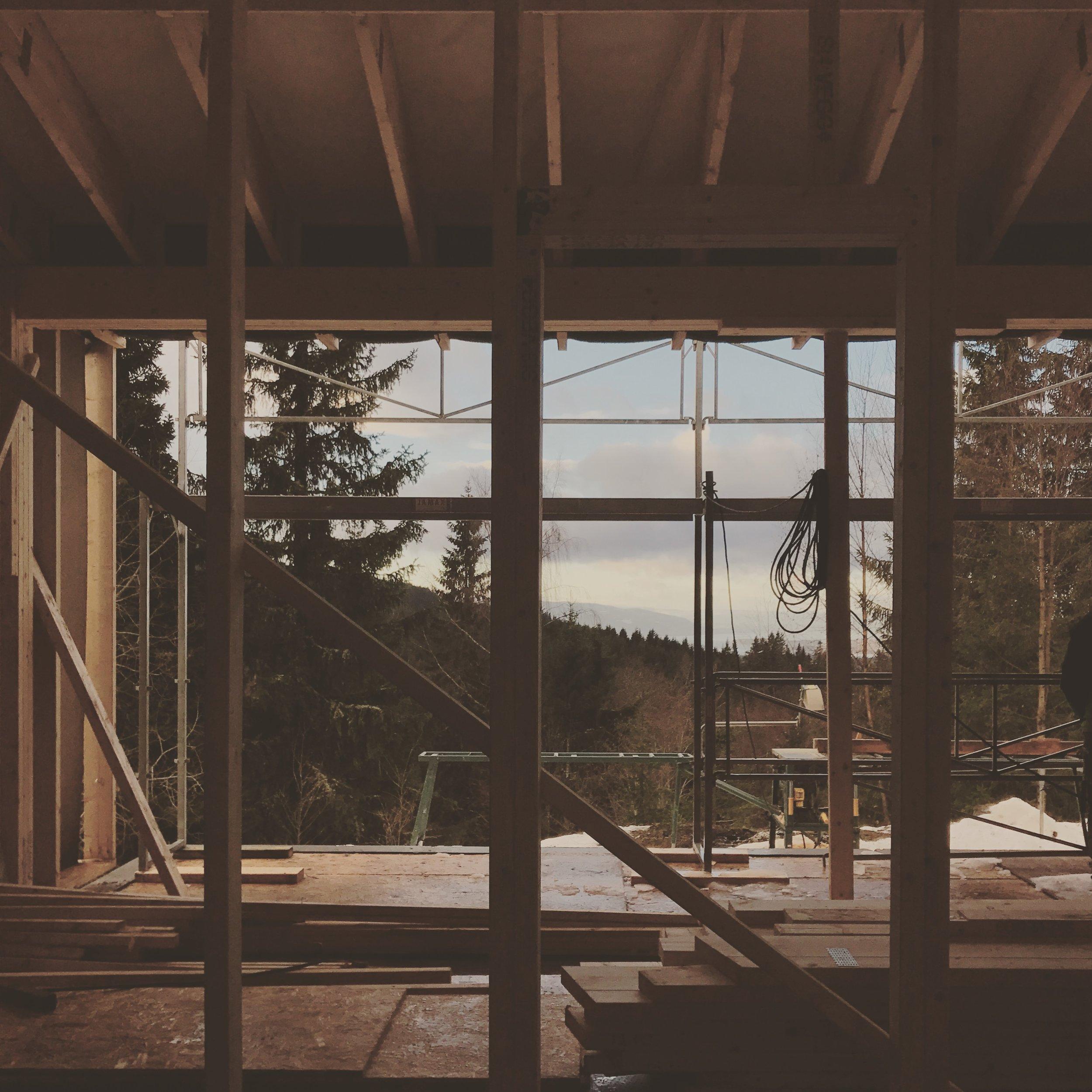 11/2016 - Befaring hytte Damtjern - fin utsikt fra stuen.