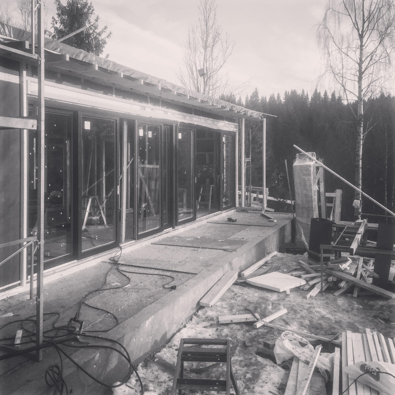 11/2016 - Nå er det ikke lenge til det er tett bygg på Damtjern 🔧🔨👍