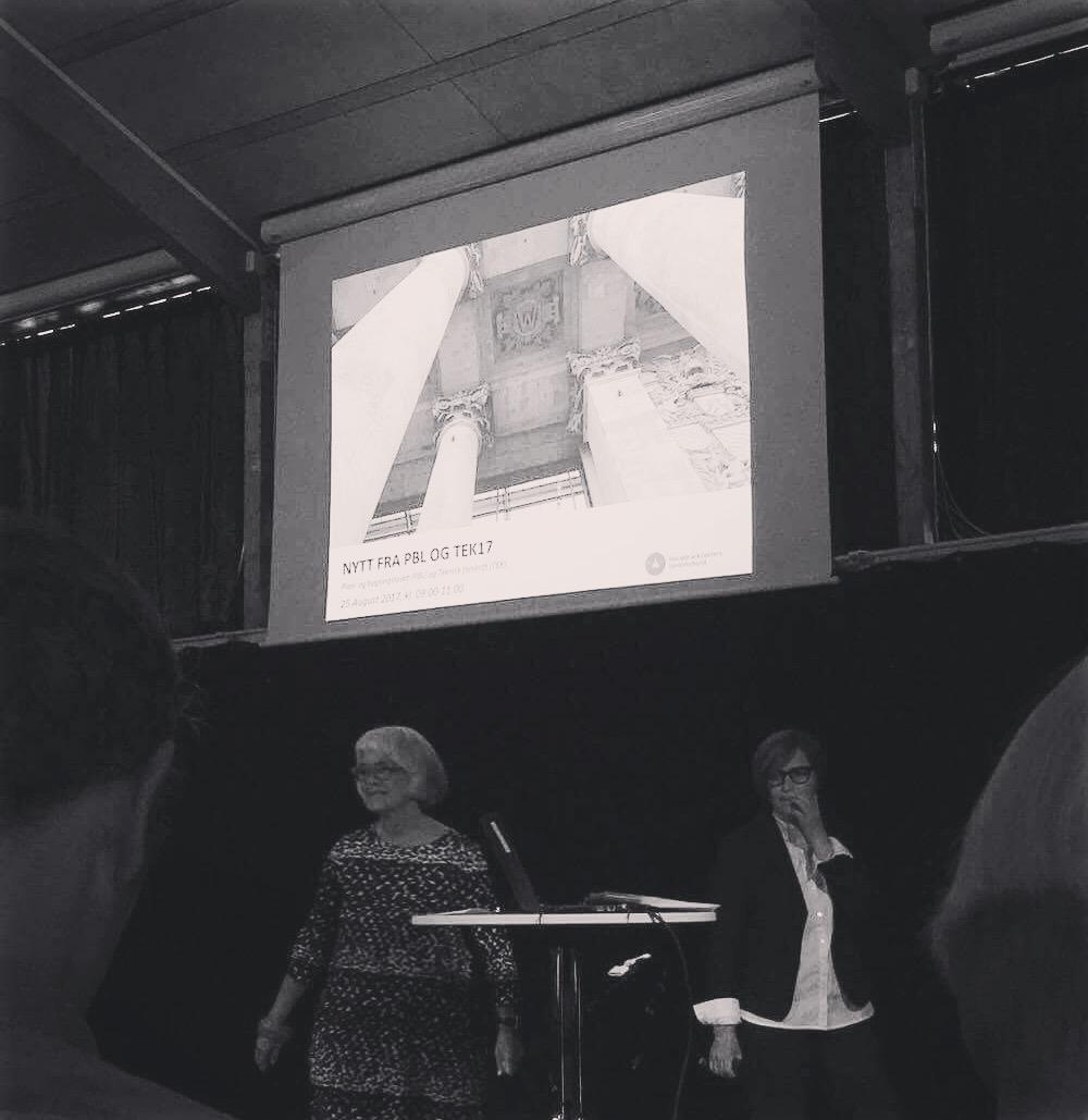 8/2017 - Eivind oppdaterer seg på hva som er nytt fra PBL & TEK17 på NAL