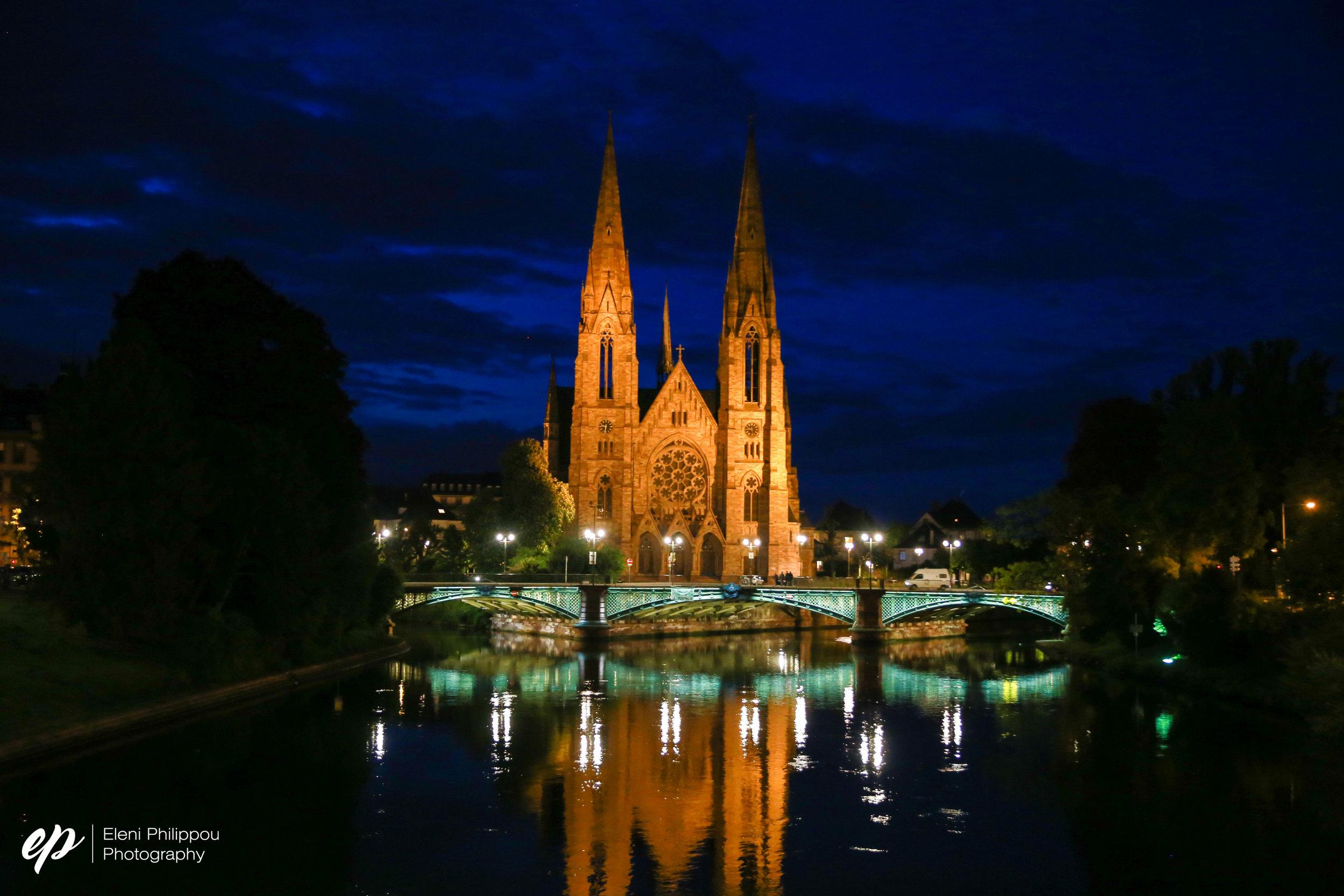 Strasburg at night