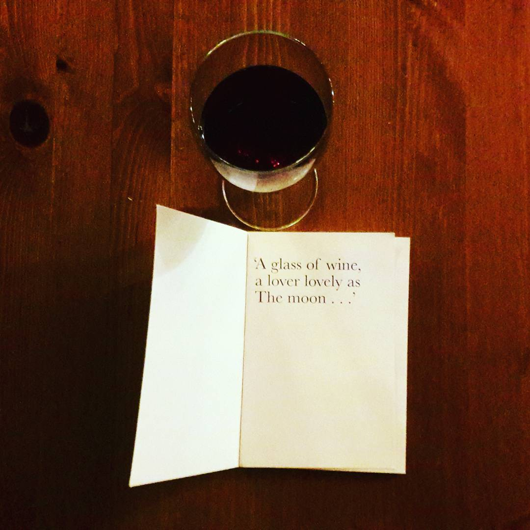 poetry and a glass of wine