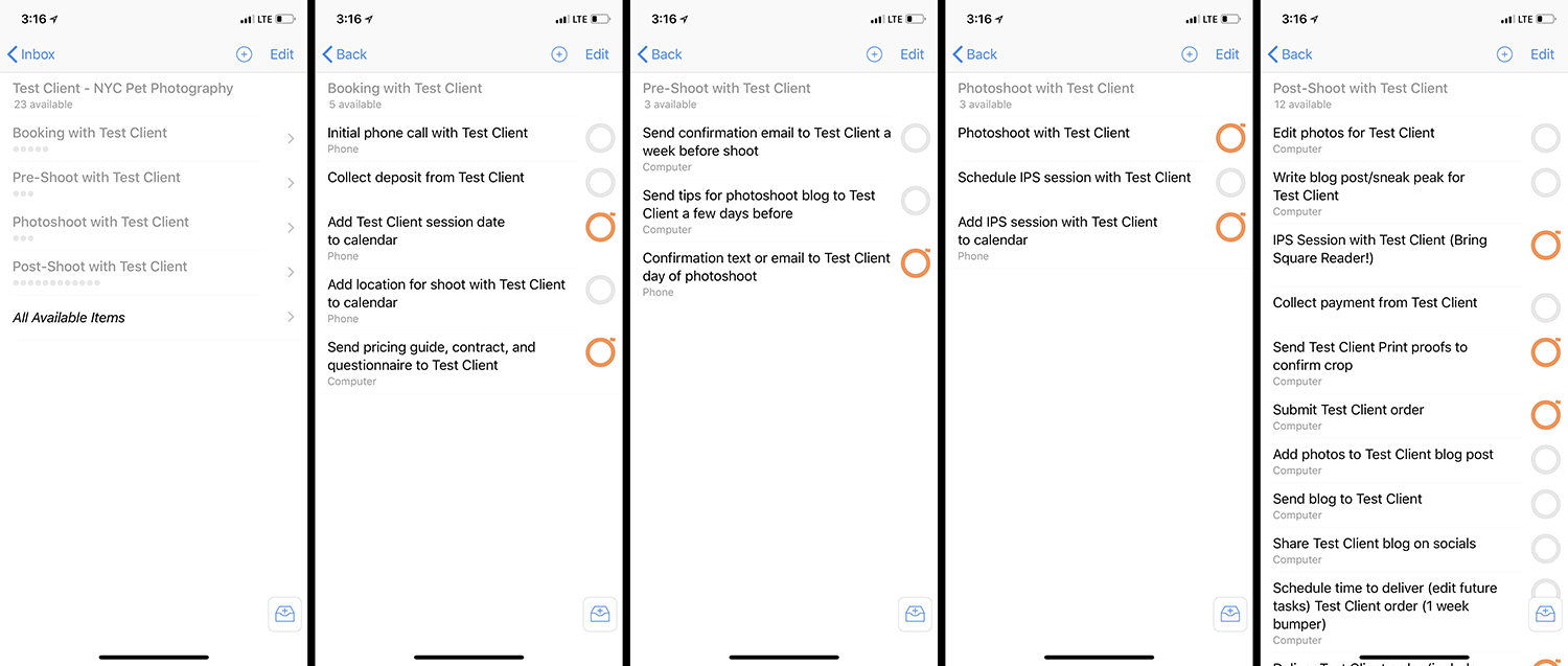Advanced Workflow Template in OmniFocus