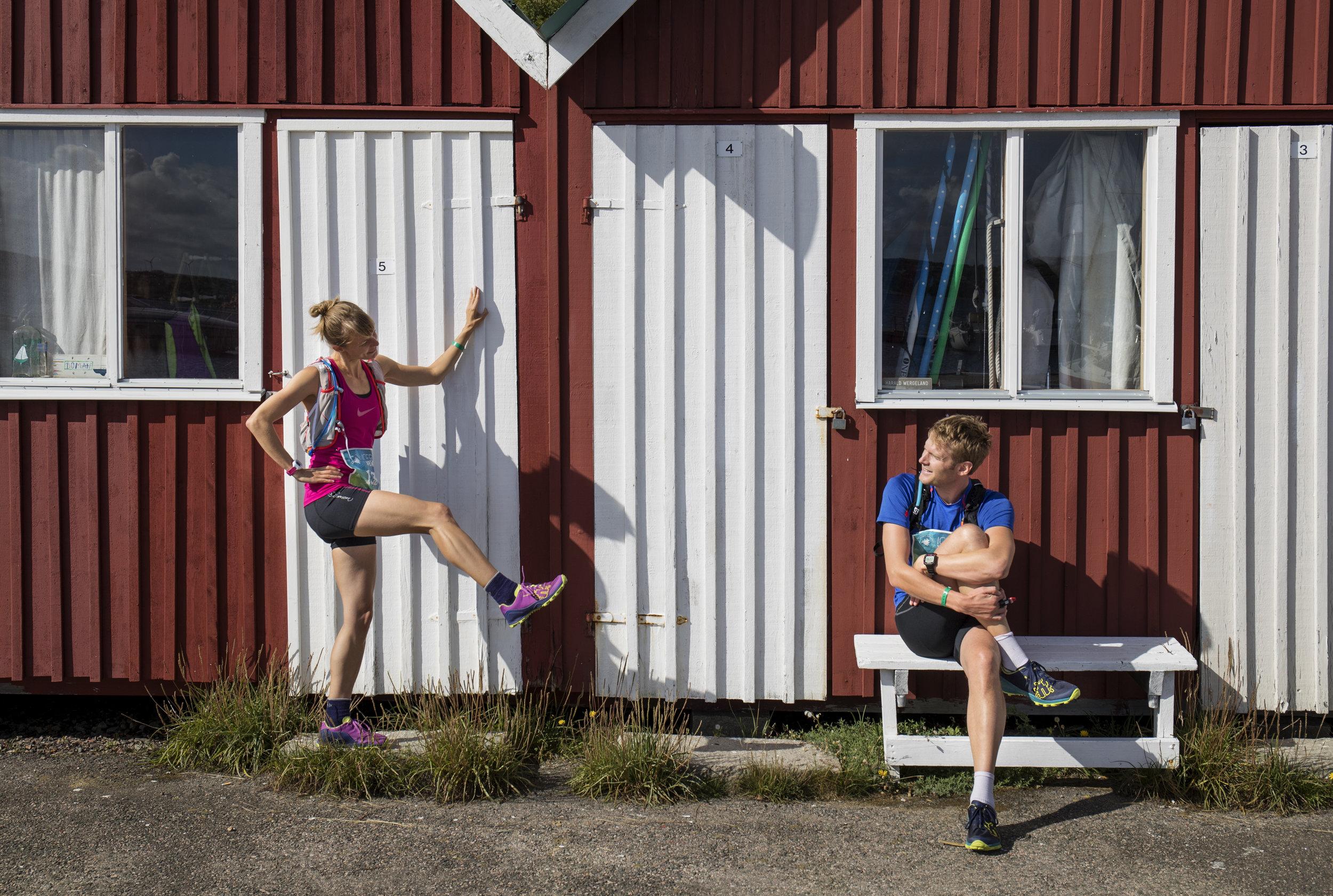 The chalet huts at Ramsvik holiday village