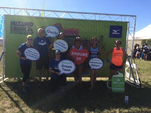 The Run1000Milers who met up for at the Endure 24 in Leeds last weekend (l-r): Katherine Self, David Elsom, Ali Crompton, Jessica Guth, Debi Jones, Anne Berry and Emma Hardy