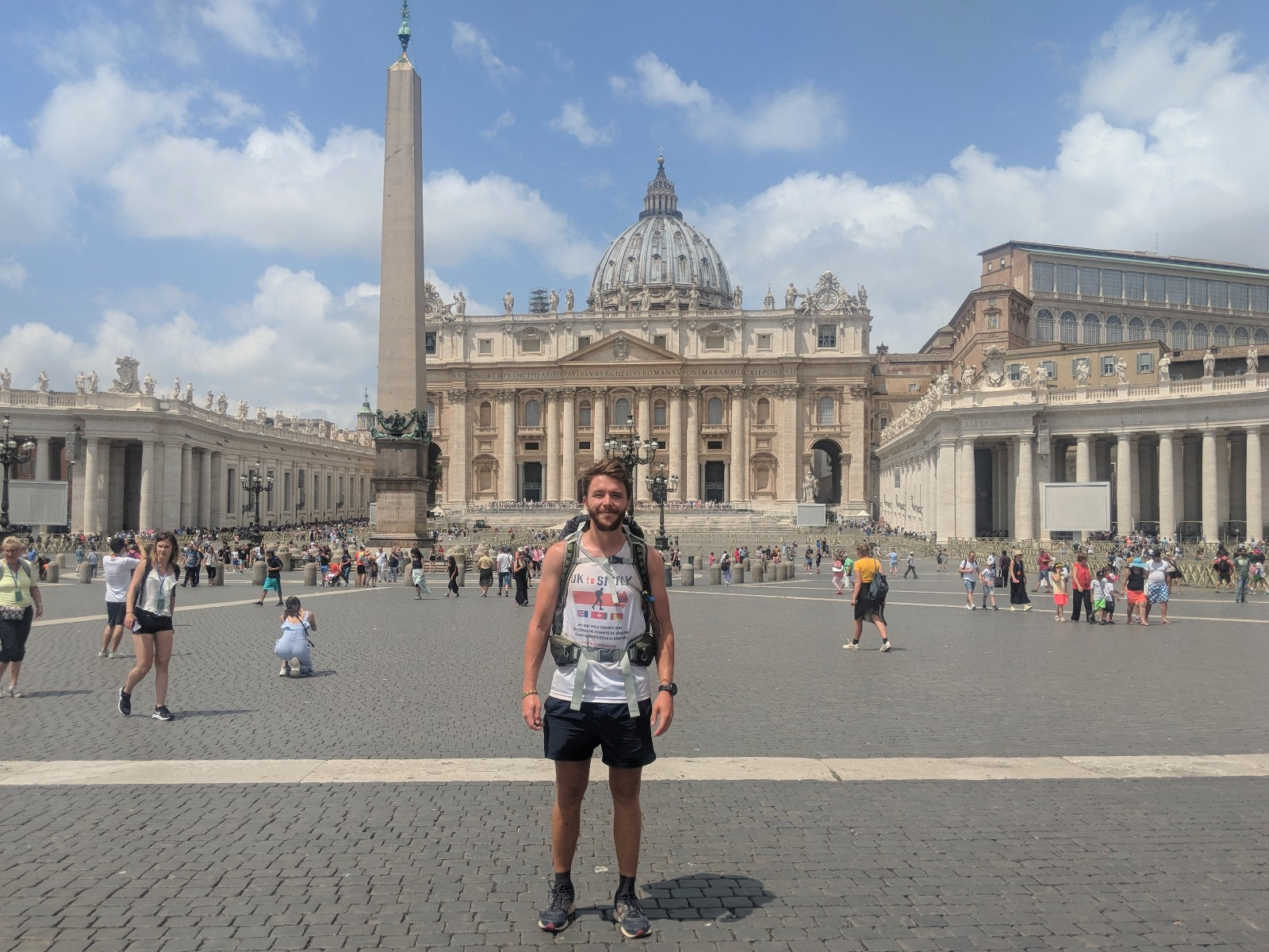 Ross reaches the end of the pilgrim's route in Rome, but still has a long way to go to Sicily
