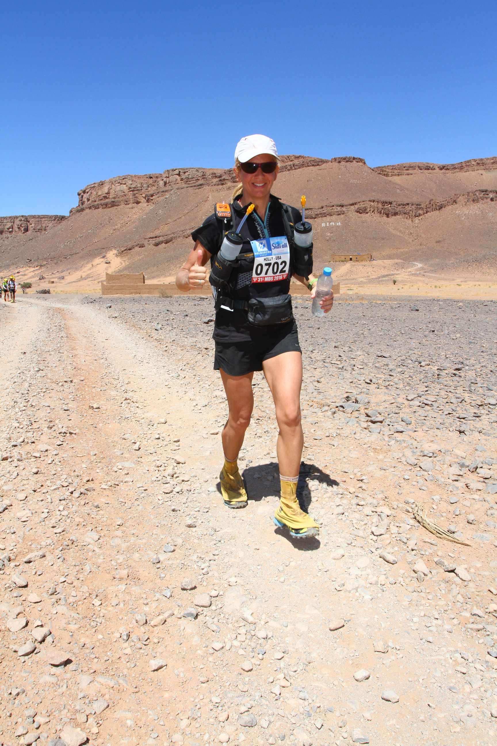 Holly Zimmerman says the long stage of the 251km Marathon des Sables has been her toughest challenge yet