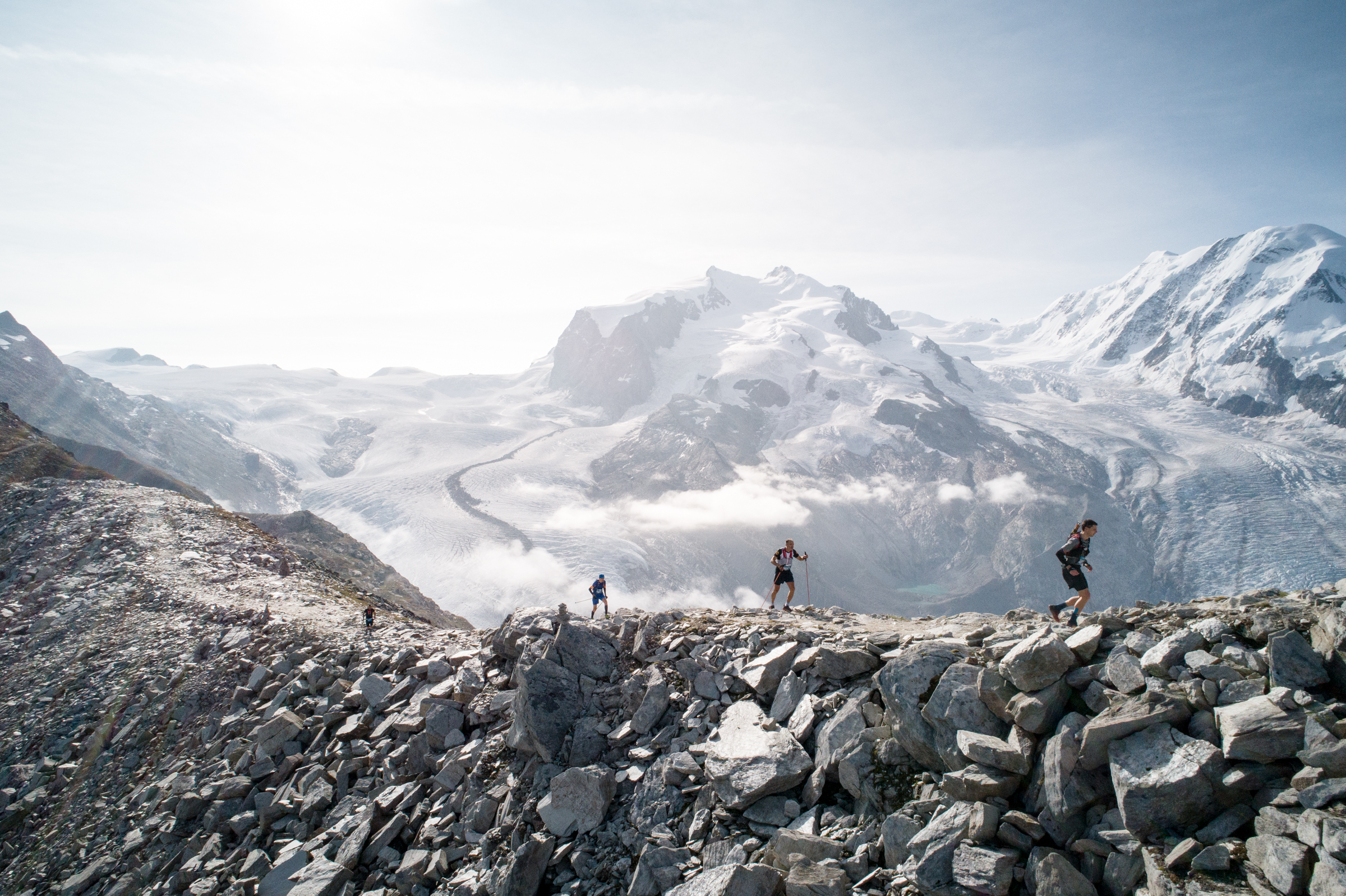 The amazing scenery welcoming runners at the Matterhorn Ultraks in Switzerland (pic credit: David Carlier)