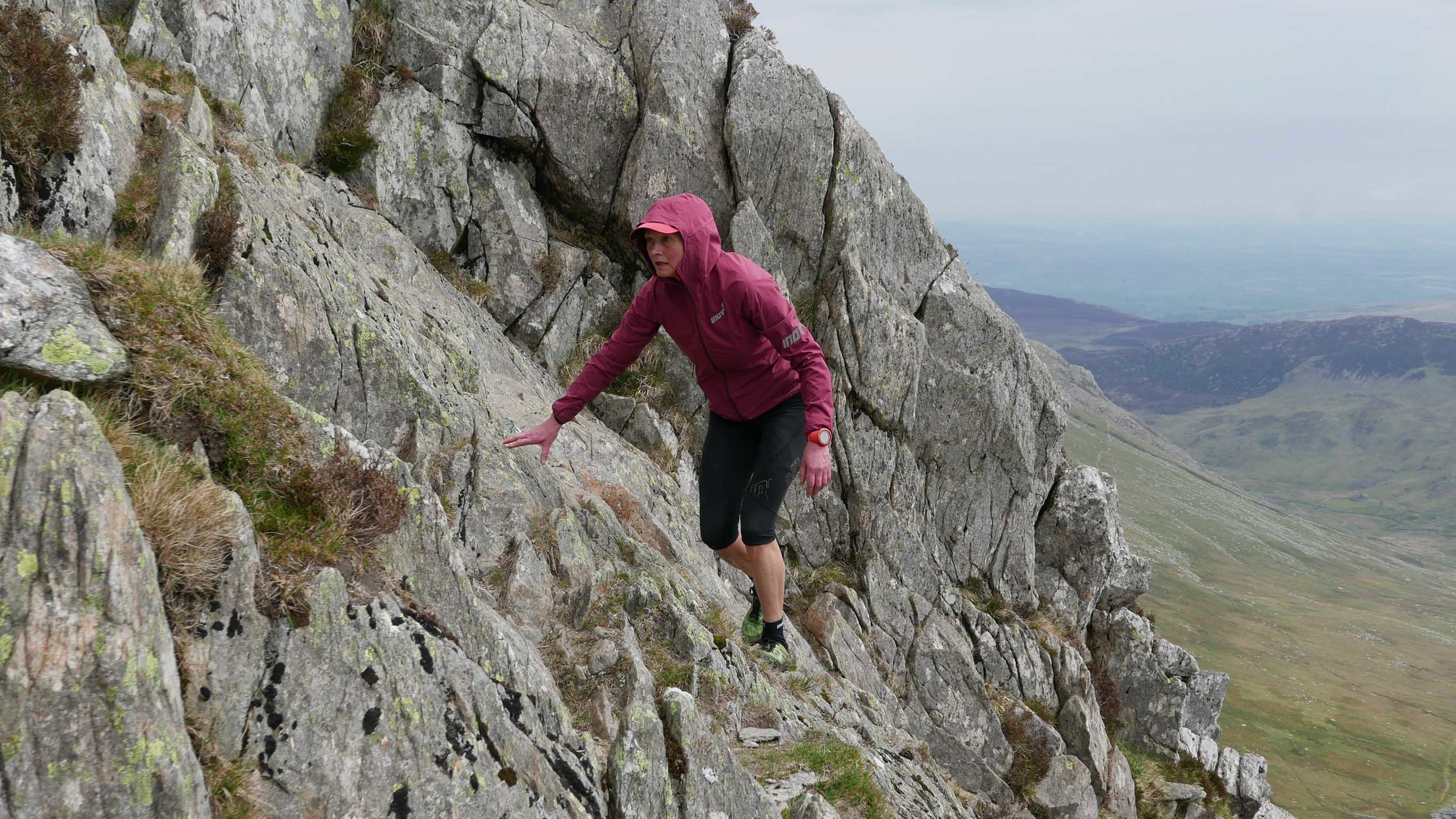 Nicky Spinks climbing Tryfan on her Double Paddy Buckley Round last month (credit: Damian Hall)