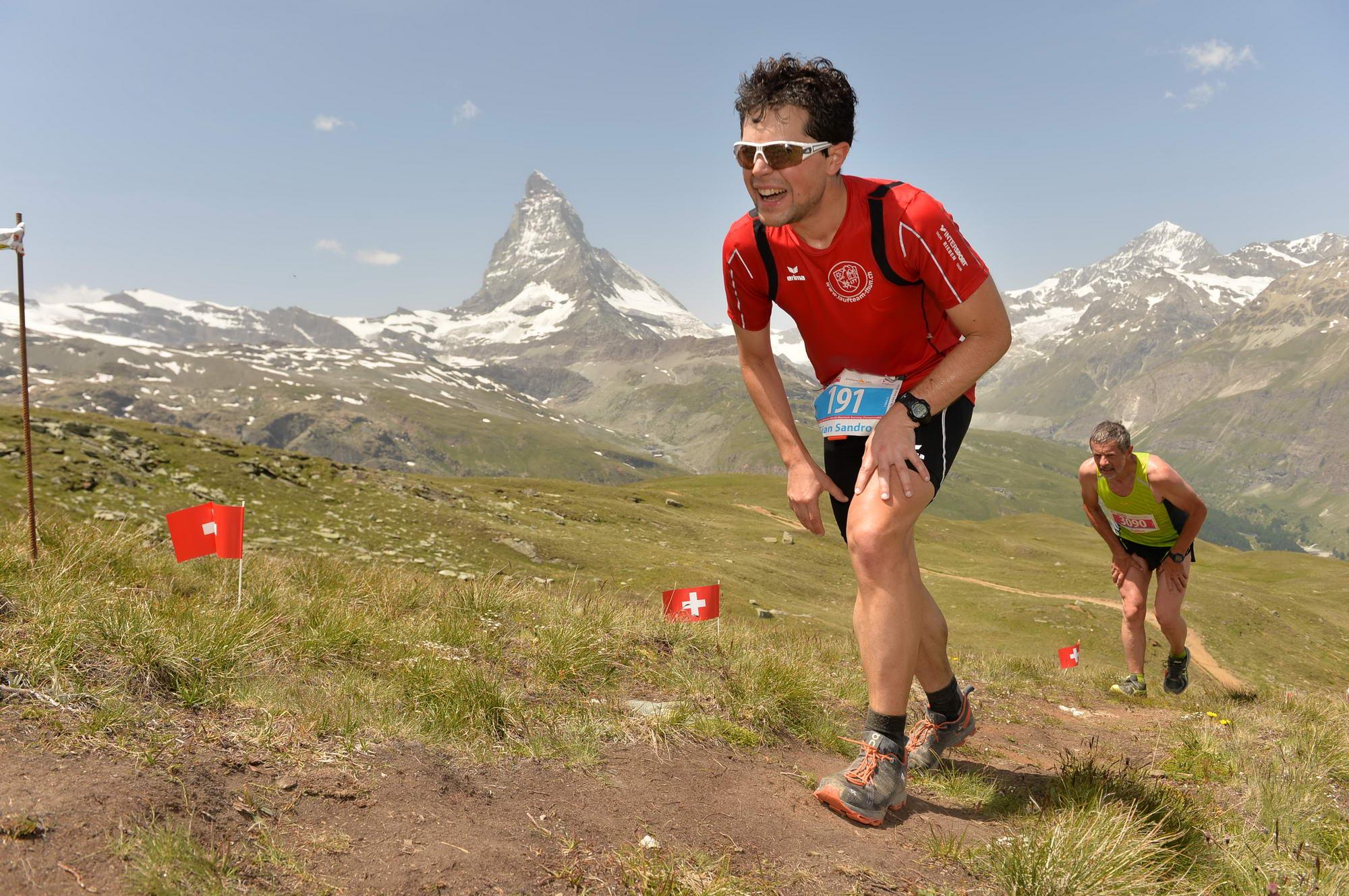 Action from the Gornergrat Zermatt Marathon, with which the European event is being held in conjunction this year (credit: Gornergrat Zermatt Marathon)