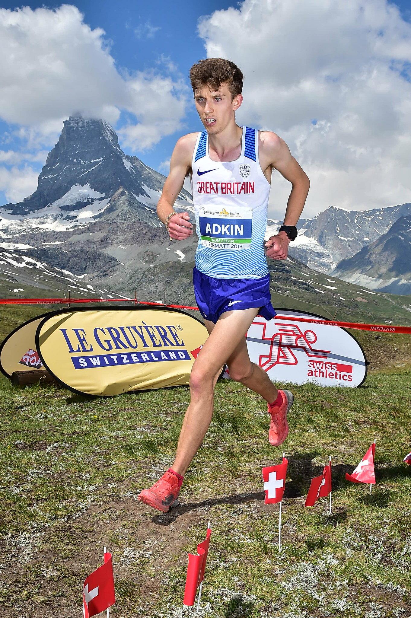 Winner Jacob Adkin (Credit: European Mountain Running Championships 2019)